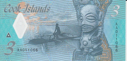 Cook Islands 3 Dollars ND ( 2021 ) P New 11 UNC Polymer Nice Number 011066 - Cook Islands