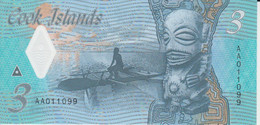 Cook Islands 3 Dollars ND ( 2021 ) P New 11 UNC Polymer Nice Number 011099 - Cook Islands