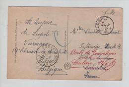 REF4766/ CP Fantaisie En SM C.Fortune Hasselt 27/1 Année Barrée > France Redirigée > Calais - Posta Militare