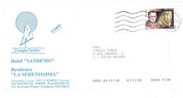 1998 £450 BERTOLD BRECHT SU STAMPE BUSTA HOTEL SANREMO CAORLE VENEZIA - 1991-00: Marcophilie