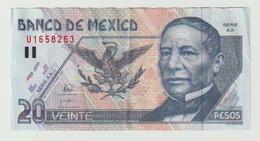 Used Banknote Banco De Mexico 20 Pesos 1998 Serie: AX - Mexique