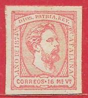 Espagne Carlistes N°5 16m Rose 1874 * - Carlistes