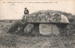 29 Brignogan Le Dolmen De Boulan En Plouneour Trez Cachet 1934 - Brignogan-Plage