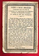 Image Pieuse Religieuse Holy Card Ed Bonamy Prière à Marie Immaculée Pape Pie X Cinquantenaire Du Dogme - Images Religieuses