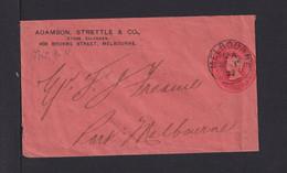 """1899 - 1 P. Privat Ganzsache """"Adamson..."""" - Gebraucht In Sydney - Storia Postale"""