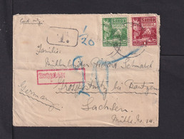 1926 - 1/2 P. Und 1 P. Auf Kleinem Brief Ab Apia Nach Sachsen - Nachgebühr - Samoa