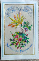 Image Pieuse Religieuse - Rehauts Relief De Tissus (Fleurs) - Ed. N. Genoux, Paris - XIX ème ? - BE - Andachtsbilder
