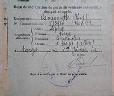 H 13   Lettre /carte /document /facture  / Déclaration De Véhicule Ford  Allier - 2. Weltkrieg 1939-1945