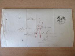 France - Lettre Imprimée Paris, Collège ROLLIN - Taxe à La Plume Rouge + Boîtier H 5-H + CàD Noir 1836 - 1801-1848: Précurseurs XIX