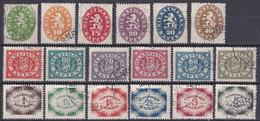 Bayern 1920 - Dienstmarken Mi.Nr. 44 - 61 - Gestempelt Used - Bavaria