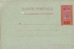 437  ENT Entier Postal  Haut Sénégal Et Niger CP - Storia Postale