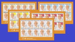 BURUNDI 2021 - FULL SET OF 5 SHEETLETS - JOINT ISSUE MAHATMA GANDHI 150 TH BIRTH ANNIVERSARY - RARE MNH - Mahatma Gandhi