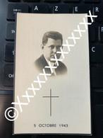 [F] De Muynck Maurice Capelle Davies Casteels 1943 - Todesanzeige