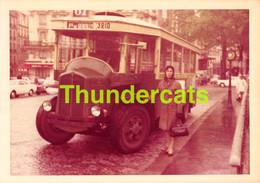 ANCIENNE PHOTO FOTO PARIS 1968 AUTOBUS COACH PORTE DE GENTILLY PIGALLE  9 CM X 13 CM - Places