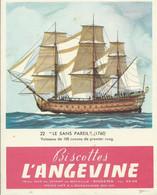 IMAGE-BUVARD 13 X 16,3 - BISCOTTES L'ANGEVINE - N° 22 LE SANS PAREIL - Zwieback