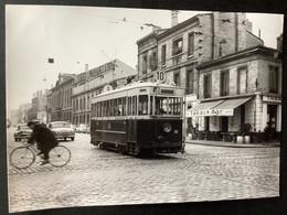 Photographie Originale De J.BAZIN : Tramways De BORDEAUX : Bd Du Président WILSON En 1956 - Trenes