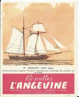 IMAGE-BUVARD 13 X 16,3 - BISCOTTES L'ANGEVINE - N° 27 GOÉLETTE - Zwieback