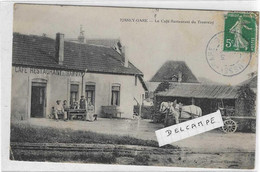 70 HAUTE SAONE JUSSEY GARE CAFE RESTAURANT TRAMWAY ATTELAGE 1908   ANIMATION   BEAU PLAN - Altri Comuni