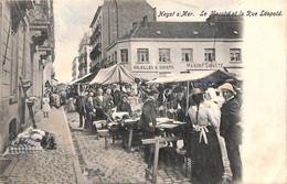 Heist - Heyst - Le Marché Et La Rue Léopold (animation Gekleurd 1903) - Heist