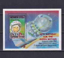 GUYANA 1990, Mi# Bl 91, Red Overprint, Women In Space, MNH - Guyana (1966-...)