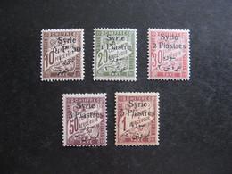 SYRIE : TB Série De Timbres-Taxe N° 27 Au N° 31, Neufs X . - Timbres-taxe