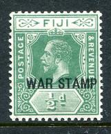 Fiji 1915-19 KGV - War Stamp - ½d Yellow-green HM (SG 138a) - Fiji (...-1970)