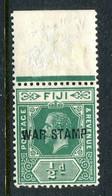 Fiji 1915-19 KGV - War Stamp - ½d Blue-green HM (SG 138b) - Fiji (...-1970)