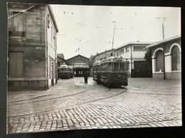 Photographie Originale De J.BAZIN : Tramways De BORDEAUX : DÉPÔT   En 1956 - Trenes