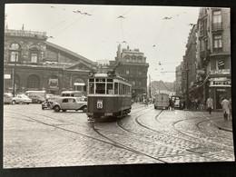 Photographie Originale De J.BAZIN : Tramways De LILLE (CGIT/ TELB): La GARE En 1957 - Trenes