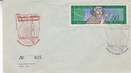 URUGUAY. 1ª MUESTRA AEROFILATELICA DE COPERNICO AL COSMOS. ÉCHANTILLON AÉROPHILATÉLIE COPERNICO À COSMO. 1974 SPC- LILHU - Südamerika