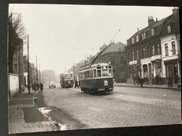 Photographie Originale De J.BAZIN : Tramways De LILLE (CGIT/ TELB): Terminus D'HELLEMMES En 1955 - Trenes