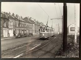 Photographie Originale De J.BAZIN : Tramways De LILLE (CGIT/ TELB): Rue ARBRISSEAU En 1959 - Trenes