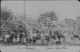 LYON - Scierie MOLLIMARD  GROS PLAN Sur LOCOMOBILE Et Mr.Jouault Contre-Maitre- Carte Photo Sépia - Unclassified