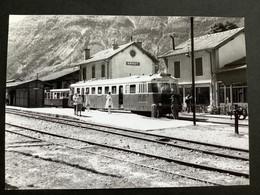 Photographie Originale De J.BAZIN : Autorails : Gare De ANNOT   ( Alpes De Haute Provence  ) En 1968 - Trenes