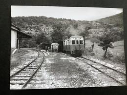 Photographie Originale De J.BAZIN : Autorails : Gare De Le FUGERET  ( Alpes De Haute Provence) En  1959 - Trenes