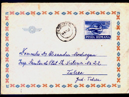 Avion  Aerogramme Entier Postal Roumanie / Romania Circule - Covers & Documents