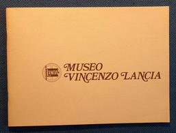 """0540 """"MUSEO - VINCENZO LANCIA - 1980 -  22 TAVOLE AUTO DAL 1908 AL 1976 - BREVETTI - MOTORI"""" CATALOGO - Motori"""