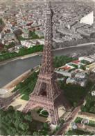 """CPA 75 PARIS La Tour Eiffel """"en Avion Sur Paris"""" Photo R. Henrard 1956 - Tour Eiffel"""