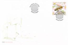 Aland FDC 2018 Honeybee (DD25-5) - Honeybees