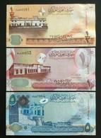 BAHRAIN SET 1/2, 1, 5 DINAR BANKNOTES 2006 UNC - Bahrain