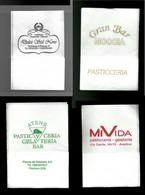 4 Tovagliolini Da Caffè - Lotto N - Company Logo Napkins