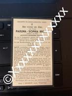 [V] Breyne Paulina Sophia Duflou August Langemark Vlamertinge 1851 1934 - Avvisi Di Necrologio