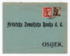 1919. KINGDOM OF SHS,RUMA? TO OSIJEK,CROATIA,CHAIN BREAKERS,VERIGARI,CROATIAN NATIONAL BANK COVER - Storia Postale