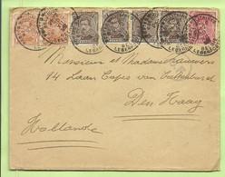135+136+138  Op Brief Stempel PMB  Op 30/12/17 Naar Den Haag, Censuur C.F. (Folkestone)  (B347 - Esercito Belga