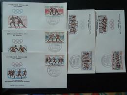 Série De 5 FDC Jeux Olympiques Olympic Games Decaris Congo Ref 807 - FDC