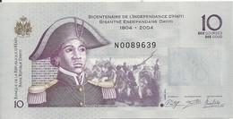 HAITI 10 GOURDES 2014 UNC P 272 F - Haiti