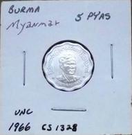 Myanmar (Burma) 1966 - 5 Pyas - Myanmar