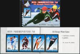 Korea 2006. Olympic Winter Games, Torino (2006) (MNH OG) StampPack - Korea (Nord-)