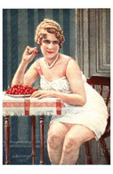 Tableau 778, J Séeberger, Cerisette Femme - Paintings