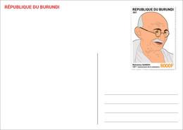 BURUNDI 2021 - STATIONERY CARD - JOINT ISSUE MAHATMA GANDHI 150 TH BIRTH ANNIVERSARY - RARE - Mahatma Gandhi